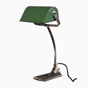 Britische Bankier Schreibtischlampe, 1930er