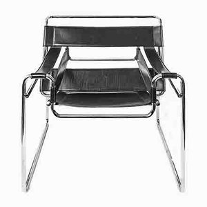 Wassily Style Armchair by Marcel Breuer, 1980s