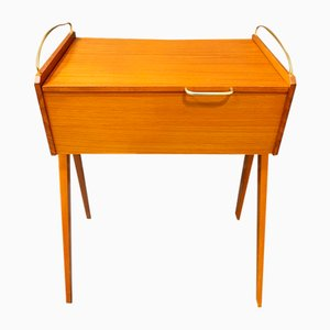 Scandinavian Teak Sewing Table, 1960s
