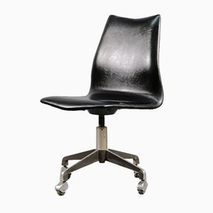 German Aniline Leather Desk Chair from Sedus, 1960s