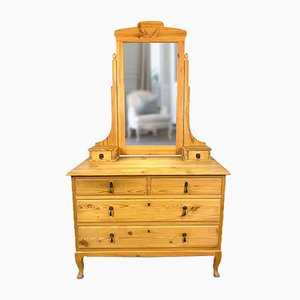 Swedish Chest of Drawers with Mirror, 1940s