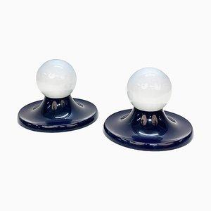Plafonnier Blue Light Ball par Achille Castiglioni pour Flos, Italie, 1960s