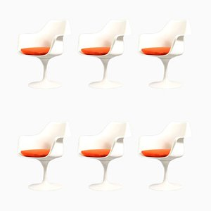 Chaises Tulip Mid-Century par Eero Saarinen pour Knoll Inc. / Knoll International, Set de 6