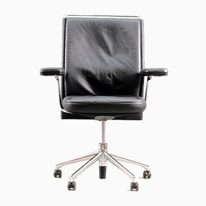 Vintage German Aniline Leather Desk Chair by Antonio Citterio for Vitra, 1960s