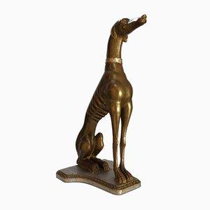 Windhund Hundeskulptur, Italien, 1900er