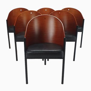 Costes Dining Chairs by Philippe Starck for Driade, 1990s, Set of 6