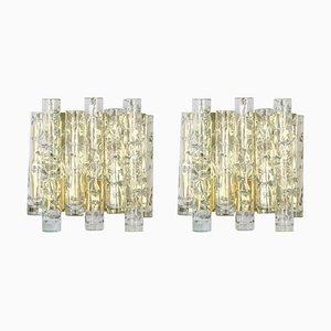 Große Wandlampen aus Muranoglas von Doria Leuchten, 1960er, 2er Set