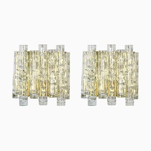 Large Murano Glass Wall Sconces from Doria Leuchten, 1960s, Set of 2