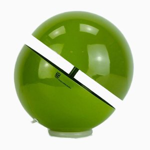 Spherical Green Metal Sfera Table Lamp by Andrea Modica for Lumess, 1990s