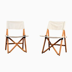 Folding Chairs by Sergio Asti for Zanotta, 1960s, Set of 2