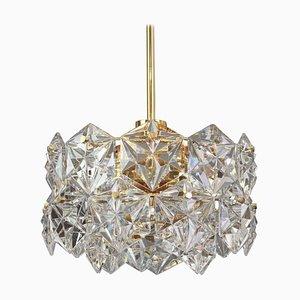Brass and Crystal Glass Chandelier from Kinkeldey, 1970s