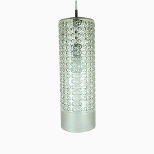 Große zylindrische Deckenlampe aus Sideglas von Rolf Krüger für Staff, 1960er