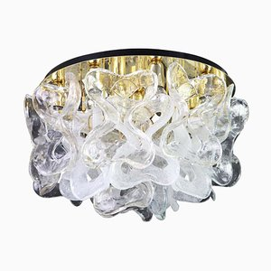 Large Catena Ceiling Fixture with Murano Glasses from Kalmar, Austria, 1960s