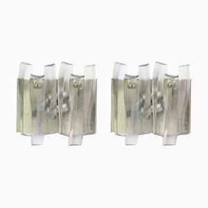 Große Murano Glas Fuente Wandleuchten von Kalmar, 1960er, 2er Set