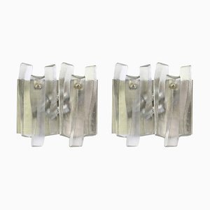 Large Murano Glass Fuente Sconces from Kalmar, 1960s, Set of 2