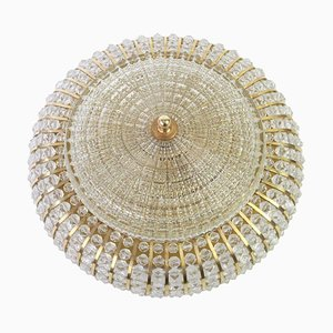 Brass Glass and Lucite Bead Wall Light from Hillebrand, 1960s