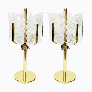 Murano Glas Tischlampe von Carl Fagerlund für Orrefors, 1960er
