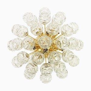 Glas Snow Balls Deckenlampe von Doria Leuchten, 1970er