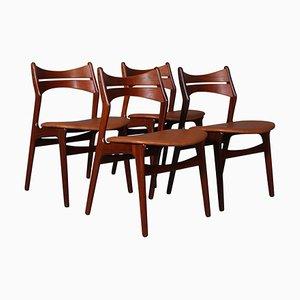 Teak Chairs by Erik Buch, Set of 4