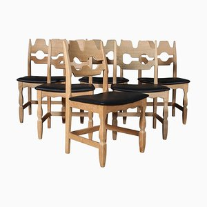 Dining Chairs by Henning Kjærnulf, Set of 6