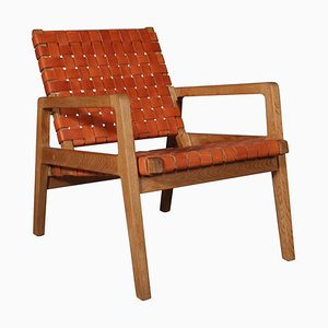 Oak Lounge Chair Attributed to Tove & Edvard Kindt-Larsen, 1940s