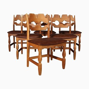 Dining Chairs by Henning Kjærnulf for EG Møbler, Set of 6
