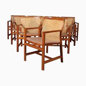 Armchairs by Rud Thygesen & Johnny Sørensen, Set of 10
