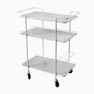 French Three Tier Perforated Metal Trolley