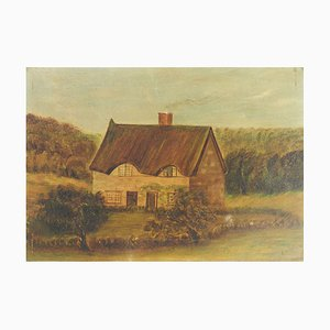 19th Century Naive House Painting, C Brown, 1880s
