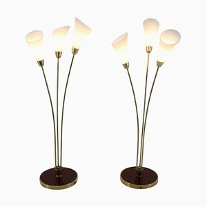Art Deco Floor Lamps, 1940s, Set of 2
