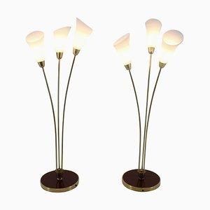 Art Deco Stehlampen, 1940er, 2er Set