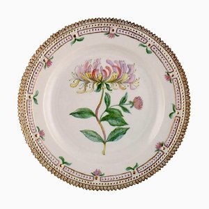 Flora Danica Plate in Hand-Painted Porcelain with Flowers from Royal Copenhagen