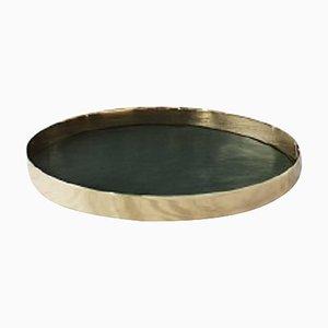 Karui Gamfratesi Dark Green Leather Tray