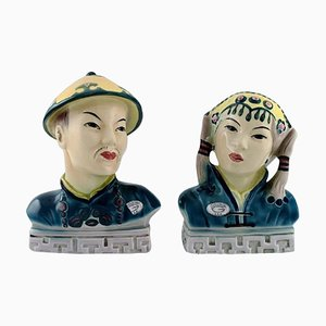 Goldscheider Figures in Hand-Painted Porcelain, Set of 2