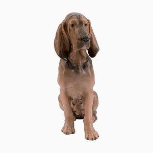 Model 1322 Porcelain Figurine of Bloodhound from Royal Copenhagen