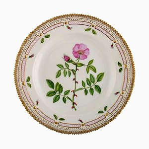 Flora Danica Dinner Plate in Hand-Painted Porcelain from Royal Copenhagen