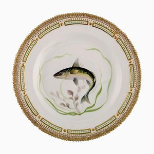 Flora Danica Fish Plate in Hand-Painted Porcelain with Fish from Royal Copenhagen