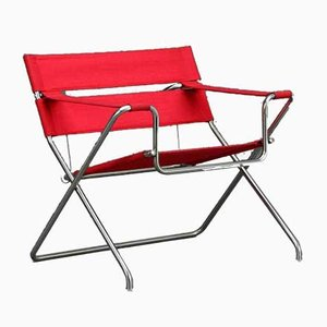 Modell D4 Bauhaus Roter Sessel von Tecta