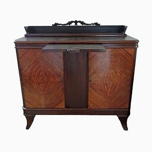 Art Deco Dining Room Commode in Dark Solid Wood, 1923