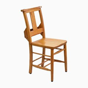 Antiker Chapel Chair aus Buchenholz