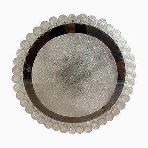 Großer Kronleuchter aus Glas und Chrom von Doria, 1960er