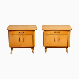 Scandinavian Nightstands in Elm, 1940s, Set of 2