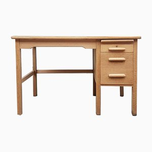 Mid-Century Oak Teacher's Desk