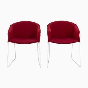 Rote Hem Stühle von Pearsonlloyd für Modus, 2er Set
