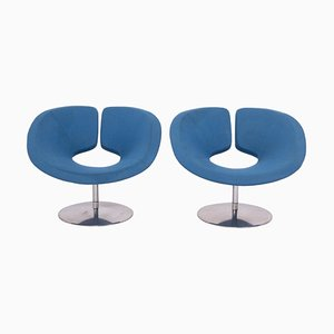 Apollo Blue Armchairs by Patrick Norguet for Artifort, Set of 2