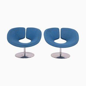 Blaue Apollo Sessel von Patrick Norguet für Artifort, 2er Set