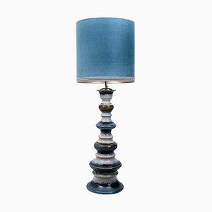 Große Stehlampe aus Keramik mit neuem Schirm von B. Rooke, 1960er