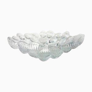 Crystal Musling Shell Glass Bowl by Per Lutkin for Royal Copenhagen