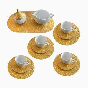 24-kt Überzogener Kaffee Dessert Service von Bjorn Wiinblad für Rosenthal, 1980er