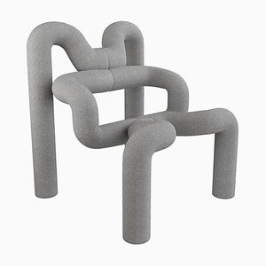 Light Grey Armchair by Terje Ekstrom, 1980s